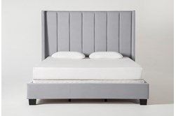 Topanga Queen Velvet Upholstered Panel Bed