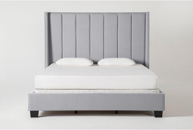 Topanga Queen Velvet Upholstered Panel Bed - 360