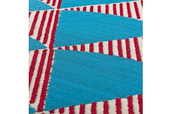 61X84 Outdoor Rug-Sails Aqua/Red