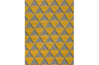 98X120 Outdoor Rug-Sails Navy/Yellow