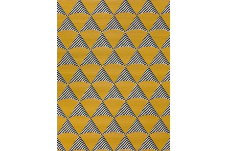 98X120 Rug-Sails Navy/Yellow
