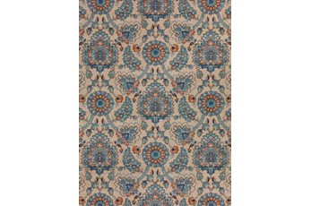 "8'2""x10' Outdoor Rug-Bouquet Orange/Blue"