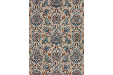 98X120 Rug-Bouquet Orange/Blue
