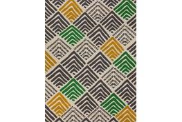 """5'1""""x7' Outdoor Rug-Peaks Yellow/Green"""