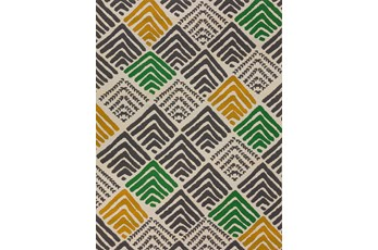 98X120 Outdoor Rug-Peaks Yellow/Green