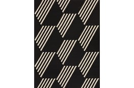 "5'1""x7' Outdoor Rug-Hex Black/White"