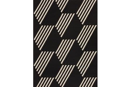 98X120 Rug-Hex Black/White - Main