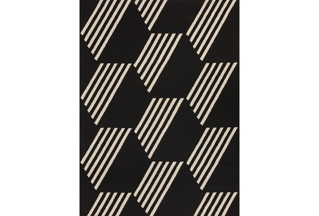 98X120 Outdoor Rug-Hex Black/White - 360