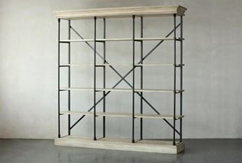 """Antique White 88"""" Bookcase"""