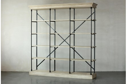 Antique White Bookcase - Main