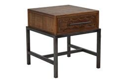 Dark Pine Single Drawer Table