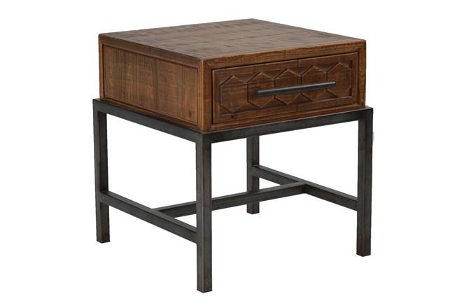 Dark Pine Single Drawer Table  - 360