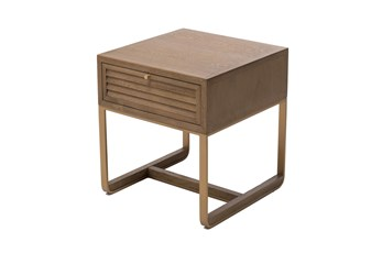 Oak Shutter Door Accent Table