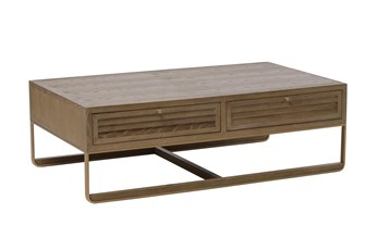 Oak Shutter 2 Drawer Coffee Table