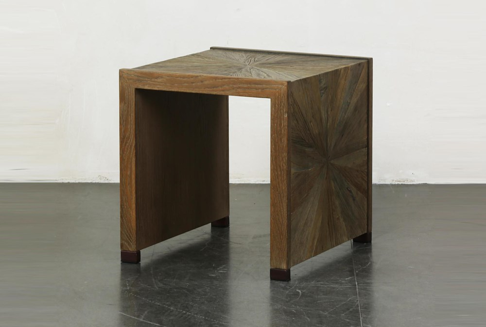 Elm Waterfall + Bronze Accent Table