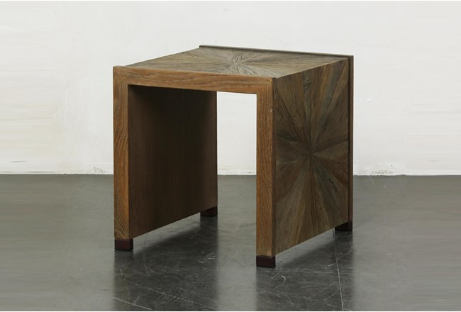 Elm Waterfall + Bronze Accent Table - 360