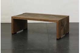 Elm Waterfall + Bronze Coffee Table