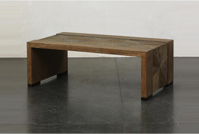 Elm Waterfall + Bronze Coffee Table - 360