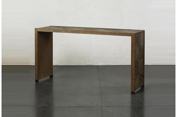 "Elm Waterfall + Bronze 64"" Sofa Table"