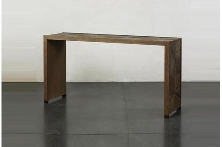 Elm Waterfall + Bronze Sofa Table - Main
