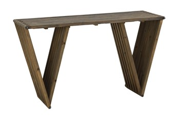 Dark Elm Sofa Table