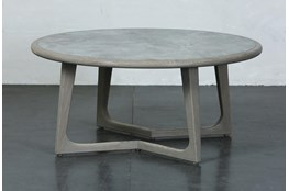 Grey Elm Round Coffee Table