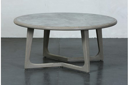 Grey Elm Round Coffee Table - Main