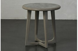 Grey Elm Round Accent Table