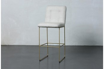 White + Gold Bar Stool
