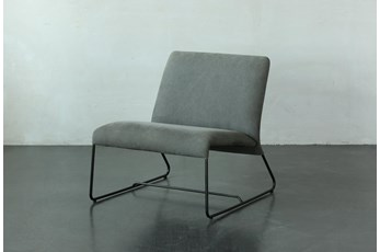 Light Grey Velvet Armless Chair