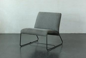Light Grey Velvet Armless Chair
