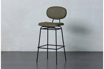 Brown Round Back Bar Stool