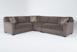 """Cypress II Down 3 Piece 118"""" Sectional With Right Arm Facing Loveseat"""
