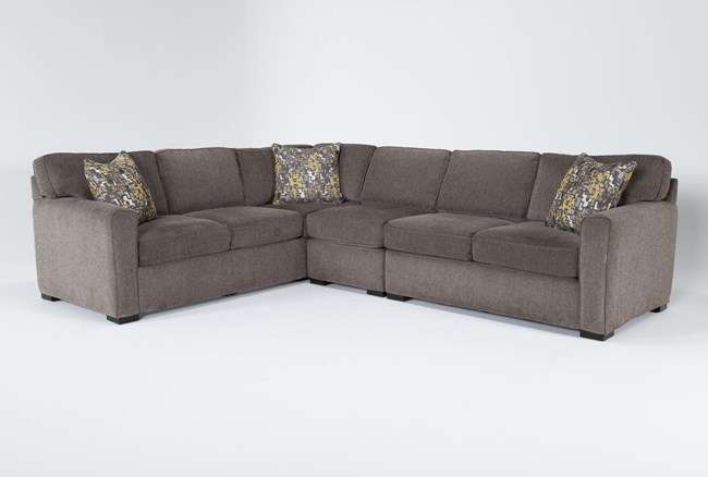 """Cypress II Down 3 Piece 118"""" Sectional With Right Arm Facing Loveseat - 360"""