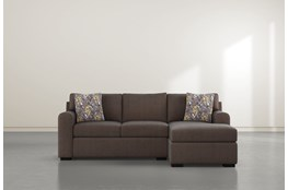 "Cypress II Down 93"" Sofa With Reversible Chaise & Storage Ottoman"