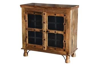 Antiqued Traditional 2 Door Cabinet