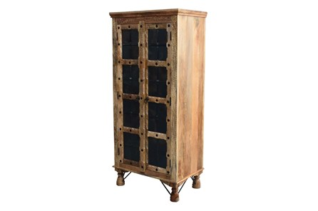Antiqued Traditional Tall Cabinet - Main