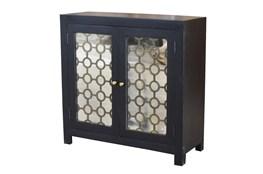 Black + Brass Mirrored Cabinet
