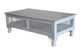 White Wash Storage Coffee Table