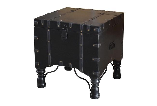 Black Nailhead Accent Table  - 360