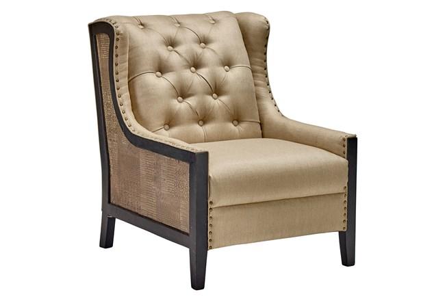 Dark Wood + Brass Side Chair  - 360