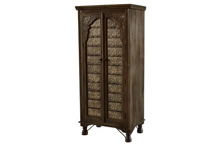 Wood + Brass Front Armoire - Main
