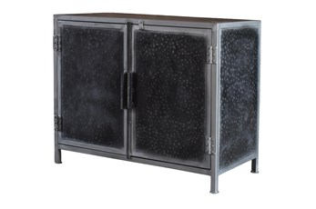 Hammered Metal 2 Door Cabinet