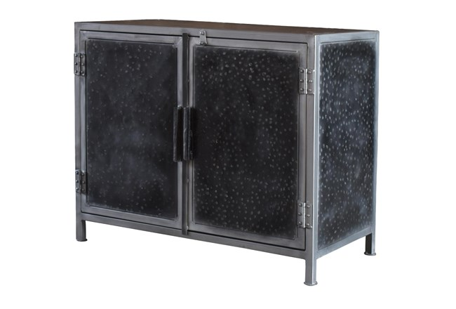 Hammered Metal 2 Door Cabinet  - 360
