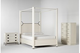 Centre Queen Canopy 3 Piece Bedroom Set By Nate Berkus And Jeremiah Brent