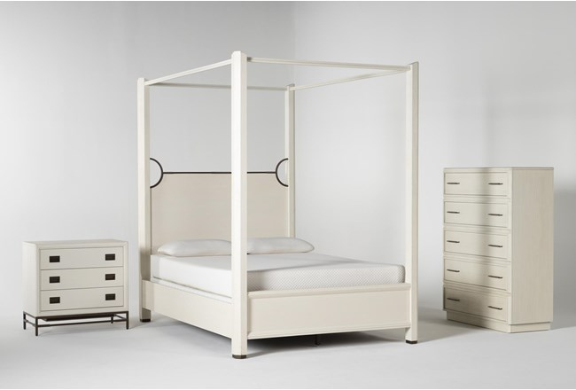 Centre Queen Canopy 3 Piece Bedroom Set By Nate Berkus And Jeremiah Brent - 360