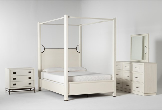Centre California King Canopy 4 Piece Bedroom Set By Nate Berkus And Jeremiah Brent - 360