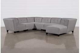 "Benton III 6 Piece 130"" Sectional With Right Arm Facing Chaise"