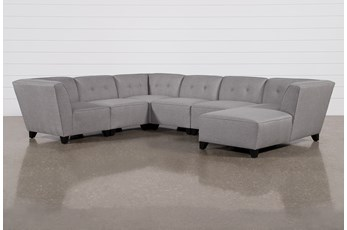 """Benton III 6 Piece 130"""" Sectional With Right Arm Facing Chaise"""