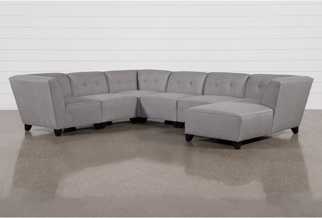 Benton III 6 Piece Sectional With Right Arm Facing Chaise - 360
